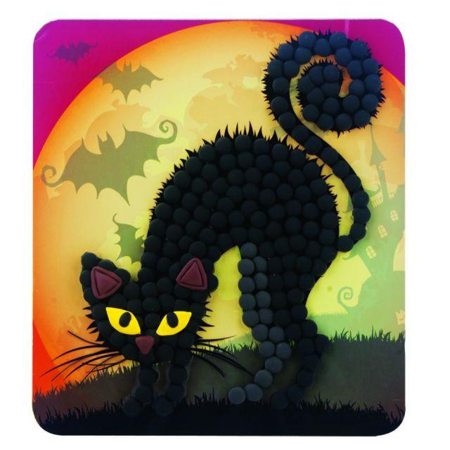 HALLOWEEN DOTS CAT